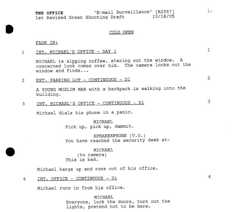 A simple guide to formatting television scripts screencraft sitcoms pronofoot35fo Gallery